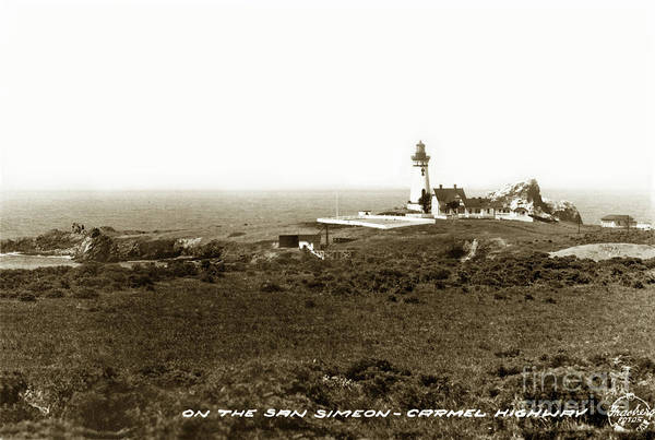 Photograph - The Piedras Blancas Lighthouse Circa 1932 by California Views Archives Mr Pat Hathaway Archives