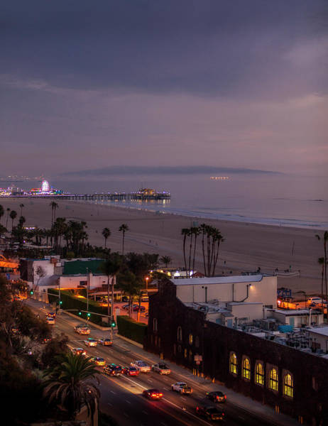 Photograph - The Pier After Dark - 1 by Gene Parks
