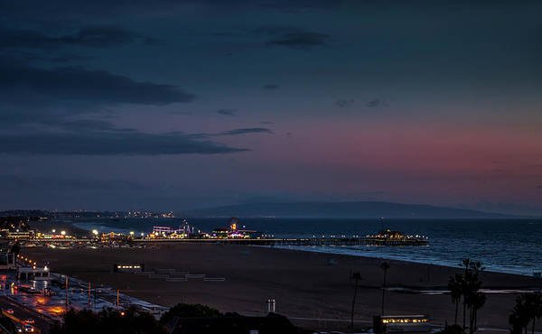 Photograph - The Pier After Dark - 2 by Gene Parks