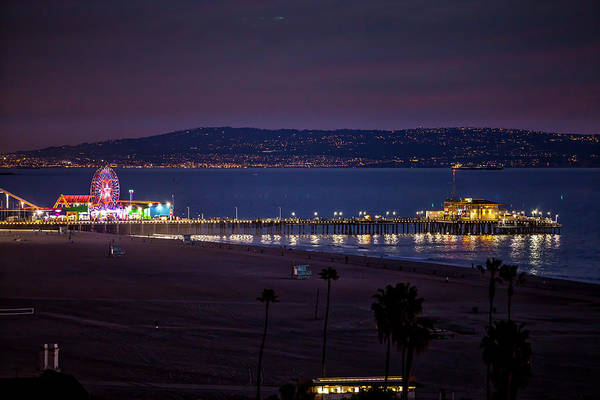 Photograph - The Pier After Dark - 3 by Gene Parks