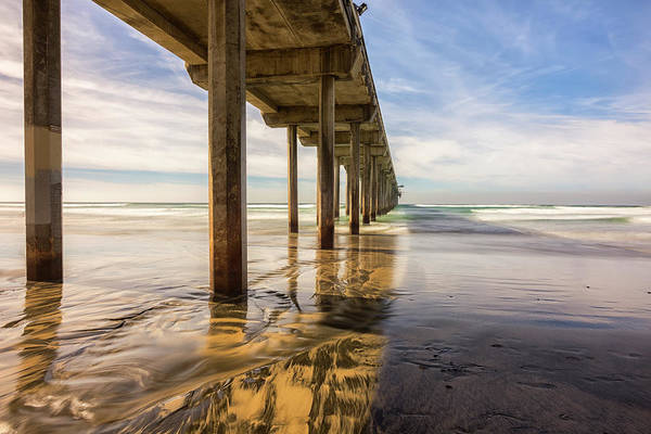Scripps Pier Photograph - The Pier And Its Shadow by Joseph S Giacalone