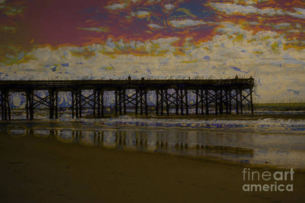 Photograph - The Pier At Sunset by Donna Bentley