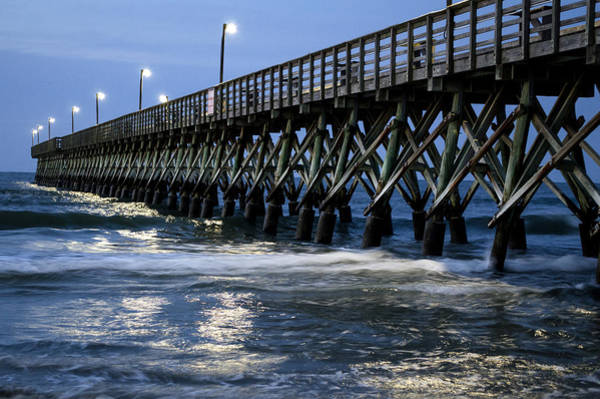 The Pier At The Break Of Dawn Art Print