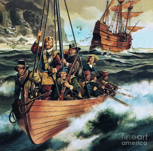 Wall Art - Painting - The Pilgrim Fathers  Men Of The Mayflower by Ron Embleton