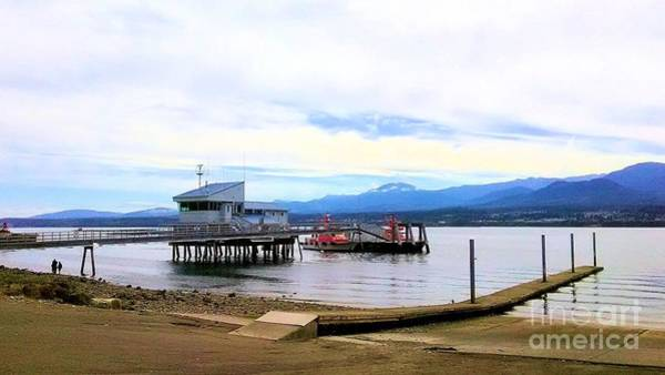 Photograph - The Pilot Boat House And Pilot Boats Port Angeles Harbor by Delores Malcomson
