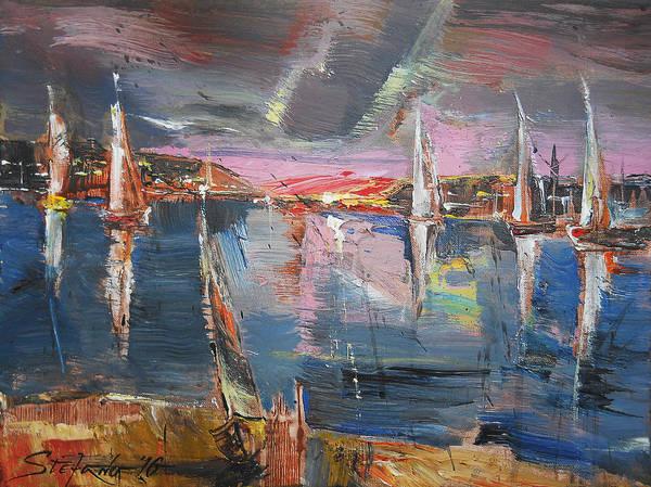 Painting - The Pink Bay by Stefano Popovski