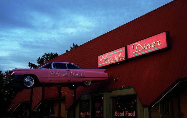 The Pink Cadillac Diner Art Print