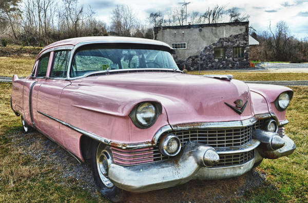 The Pink Cadillac II Art Print by Kathy Jennings