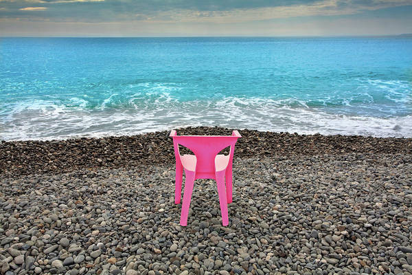 Oceanfront Photograph - The Pink Chair by Al Hurley
