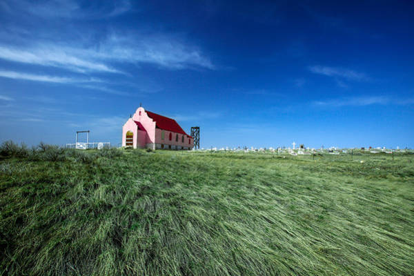 Sacred Heart Photograph - The Pink Church by Todd Klassy