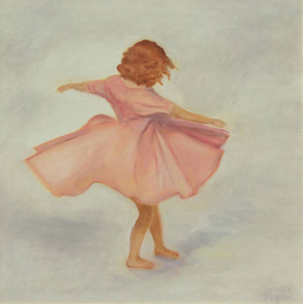 Twirl Painting - The Pink Dress by Susan Fuglem