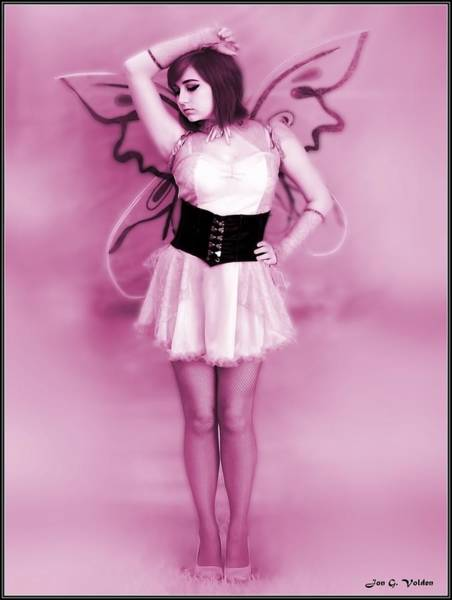 Painting - The Pink Fairy by Jon Volden
