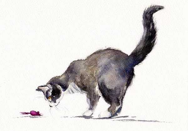 Wall Art - Painting - The Pink Felt Mouse by Debra Hall