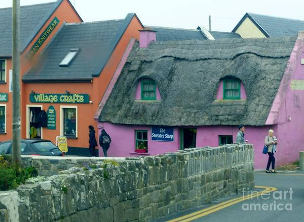 Photograph - The Pink Irish Sweater Shop by Rosanne Licciardi