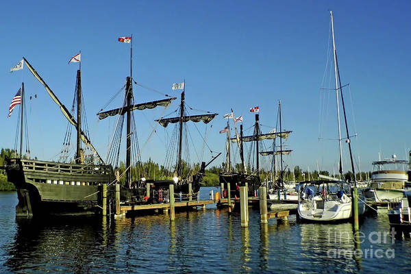 Floating Museum Photograph - The Pinta And The Nina by D Hackett