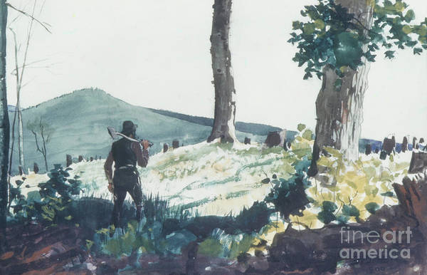 Pioneer Mountains Wall Art - Painting - The Pioneer, 1900  by Winslow Homer
