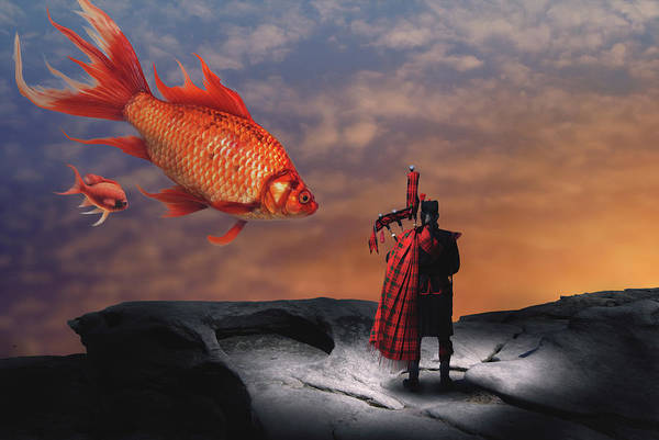 Wall Art - Digital Art - The Piper by Nathan Wright