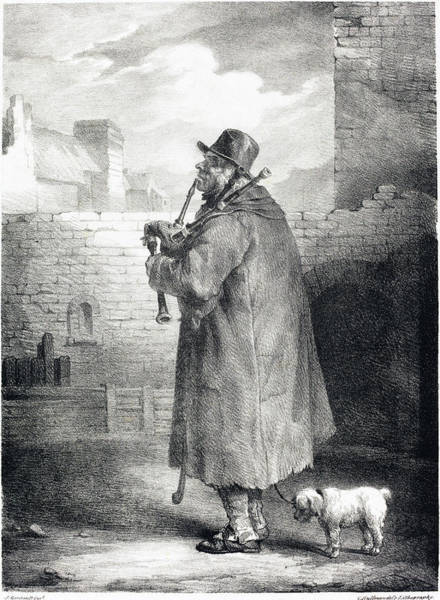 Drawing - The Piper by Theodore Gericault