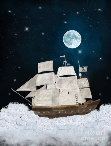 Floating Painting - The Pirate Ghost Ship by Bri Buckley