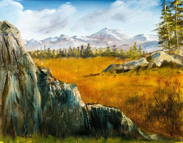Painting - The Plains - Mountain Landscape by Barry Jones