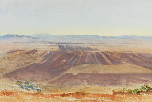 Impressionistic Drawing - The Plains Of Nazareth by John Singer Sargent