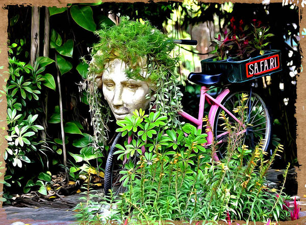 Digital Art - The Plants Bicycle  by Bliss Of Art