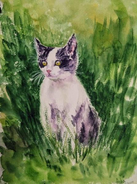 Painting - The Playful Kitten 3 by Asha Sudhaker Shenoy