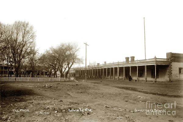 Photograph - The Plaza, Palace St., Governors' Palace, Santa Fe, New Mexico,  by California Views Archives Mr Pat Hathaway Archives