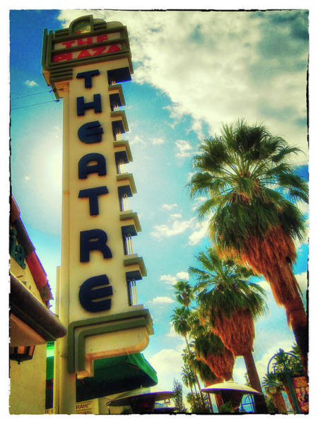 Photograph - The Plaza Theater by Doug Matthews