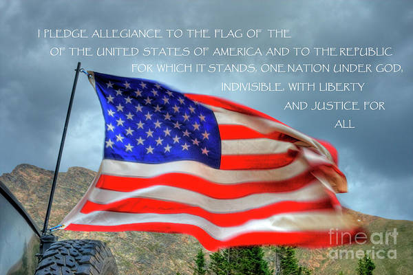 Photograph - The Pledge  Allegiance by Tony Baca