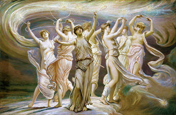 Star Cluster Painting - The Pleiades by Elihu Vedder