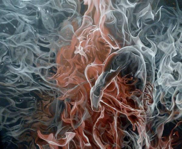 Acrilic Painting - The Plexus Of Souls by Natasha Parshchyk