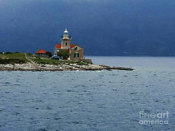 Photograph - The Plocica Lighthouse In The Mediterranean by Doc Braham