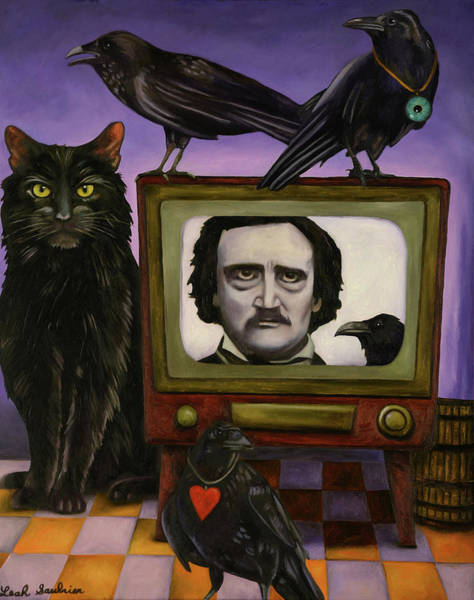 Painting - The Poe Show by Leah Saulnier The Painting Maniac