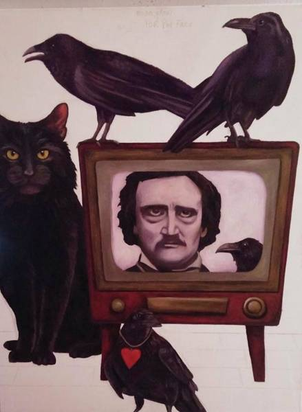 Painting - The Poe Show Wip by Leah Saulnier The Painting Maniac