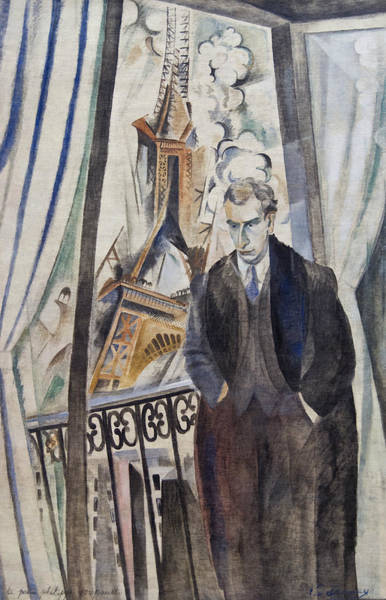Drapes Painting - The Poet Philippe Soupault by Robert Delaunay