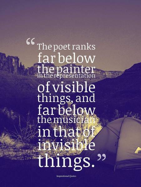 Painting - The Poet Ranks Far Below The Painter by Celestial Images