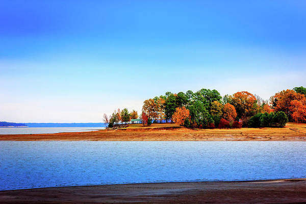 Photograph - The Point - Lakeside Landscape by Barry Jones