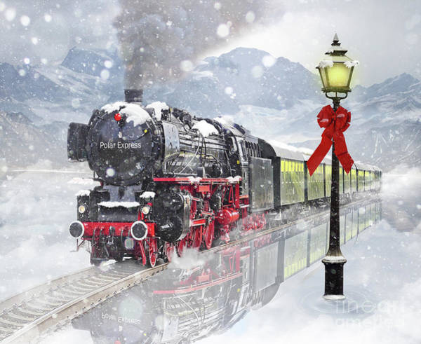 Steam Engine Photograph - The Polar Express by Juli Scalzi