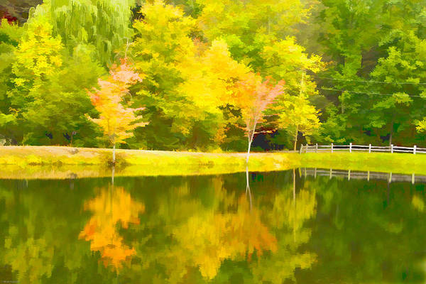Chs Digital Art - The Pond At Alpine by Ches Black