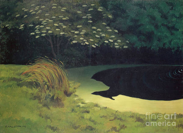 Wall Art - Painting - The Pond Honfleur, 1909  by Felix Edouard Vallotton