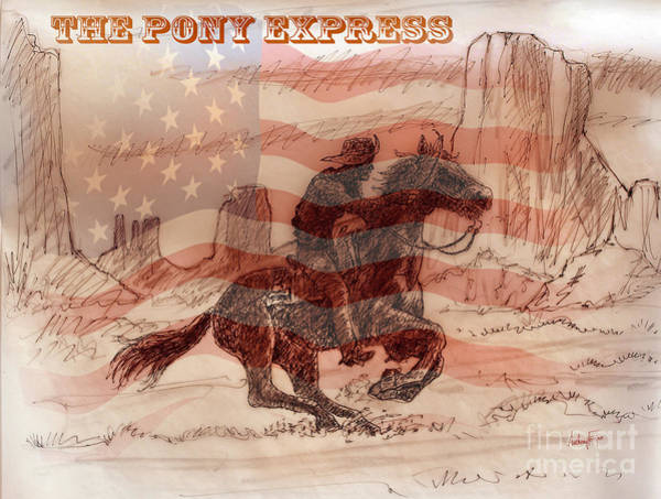 Wall Art - Painting - The Pony Express by Anthony Forster