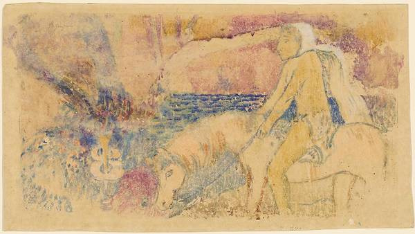 Wall Art - Drawing - The Pony by Paul Gauguin