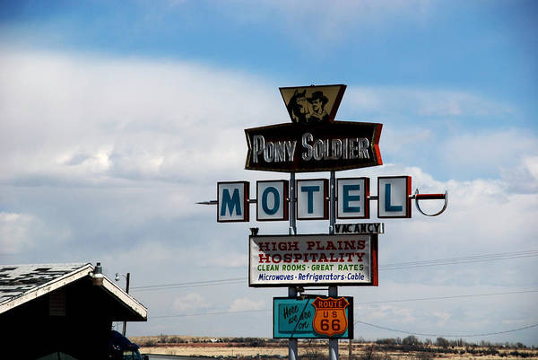Photograph - The Pony Soldier Motel On Route 66 by Susanne Van Hulst