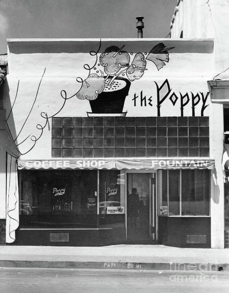 The Poppy, Coffee Shop, Fountain, Alvarado Street, Monterey Circ Art Print