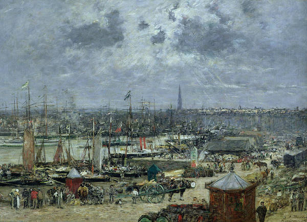 Oil Industry Painting - The Port Of Bordeaux by Eugene Louis Boudin