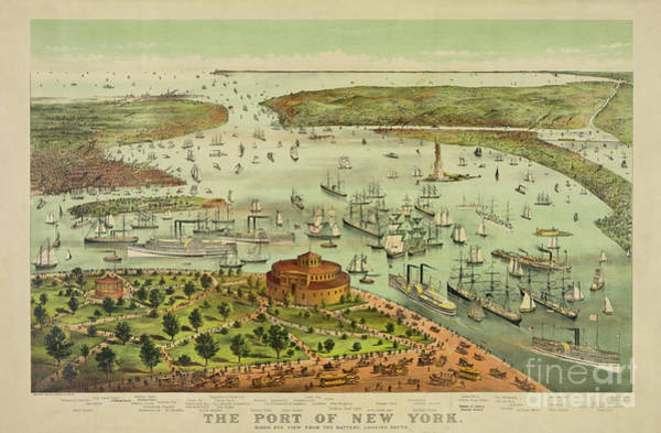 Photograph - The Port Of New York by Dale Powell