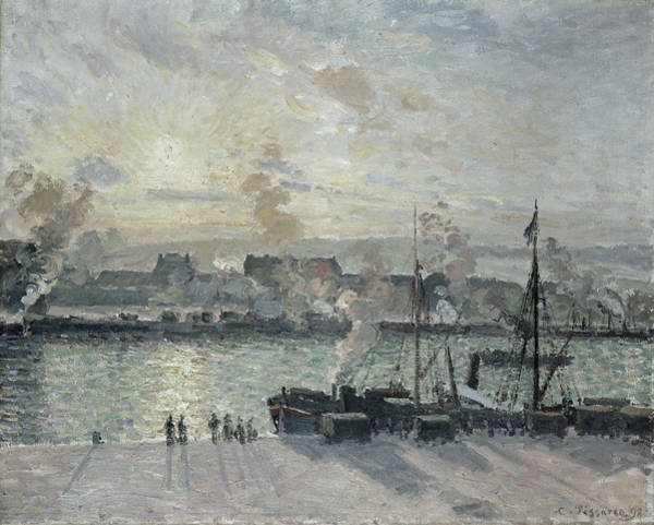 Oil Industry Painting - The Port Of Rouen by Camille Pissarro