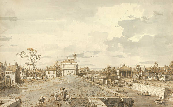 Drawing - The Porta Portello With The Brenta Canal In Padua by Canaletto