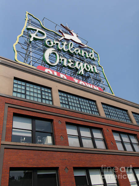Photograph - The Portland Oregon Sign Aka The White Stag Sign In Portland Oregon 5d3427 by Wingsdomain Art and Photography